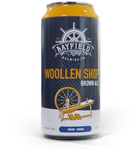 Beer Can: Woollen Shop - Brown Ale